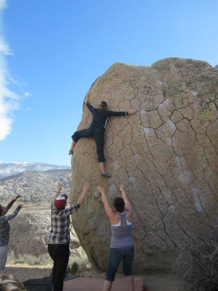 Rock Climbing Photo: Green Wall Bishop