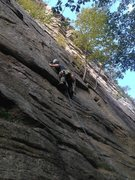 Rock Climbing Photo: Below the crux on Twisted Sister.