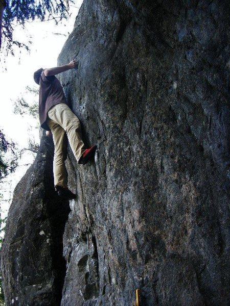 Rock Climbing Photo: Mike on the FA.