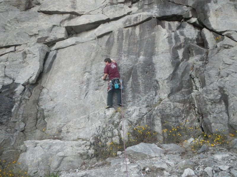 Rock Climbing Photo: While it is difficult to see in the photo, both fe...
