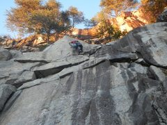 Rock Climbing Photo: Almost there. Grab a nice side pull with the right...