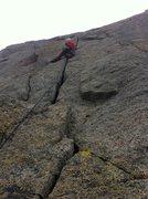 Rock Climbing Photo: Jordan Cocanower headed up the money pitch