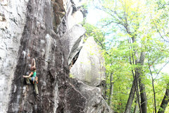 Rock Climbing Photo: torie on her onsight attempt
