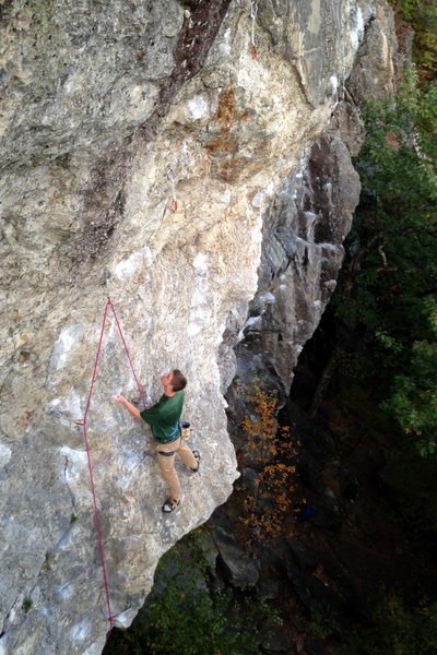 The midway rest ledge, Anyone who knows this route will know this spot well, Eli Buzzell