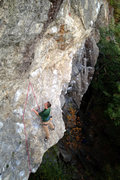 Rock Climbing Photo: The midway rest ledge, Anyone who knows this route...