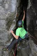 Rock Climbing Photo: Climbing the start