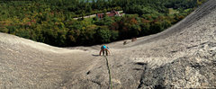 Rock Climbing Photo: An interesting panorama of torie following the run...