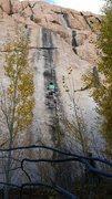 Rock Climbing Photo: Jalen giving it a go on TR.