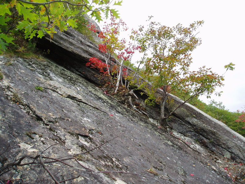 Rock Climbing Photo: The large, dark left-facing corner system that &qu...