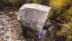 Rock Climbing Photo: Chris Healy workin the Big Guy. Photo cred: Three ...
