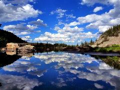 Rock Climbing Photo: Salmon Lake.