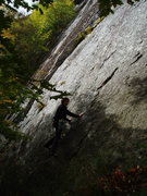 "Rock Climbing Photo: S Matz starts ""Land Ahoy"""