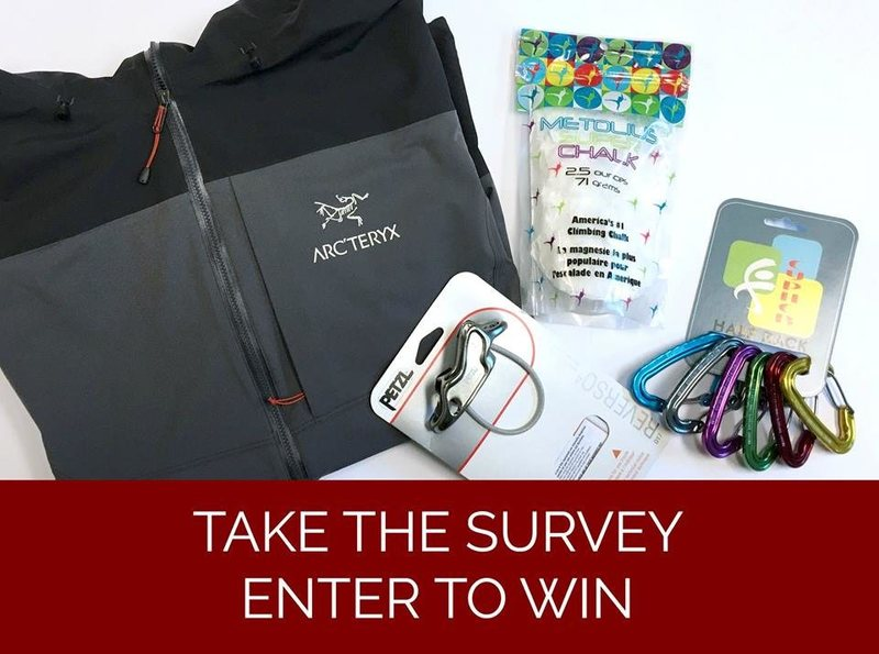 Prize package for the Access Fund survey.