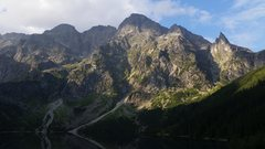 Rock Climbing Photo: High Tatras, above Morskie Oko. The pointy spire n...