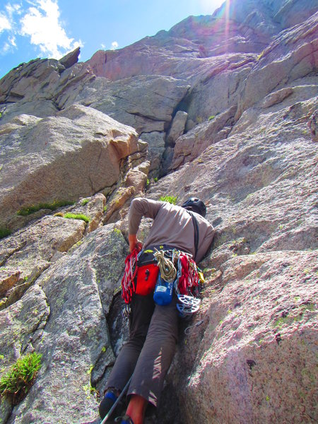 Rock Climbing Photo: Lots of jumbles and route finding