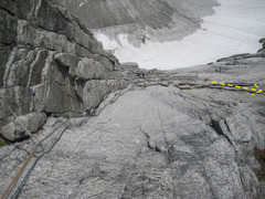 Rock Climbing Photo: P7 - the off route corner (original line is somewh...