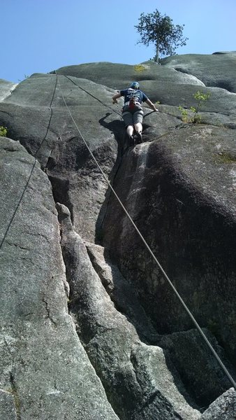 Rock Climbing Photo: Not exactly sure where this route is, but it may b...