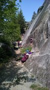 Rock Climbing Photo: At the far end of the wall in this picture is wher...