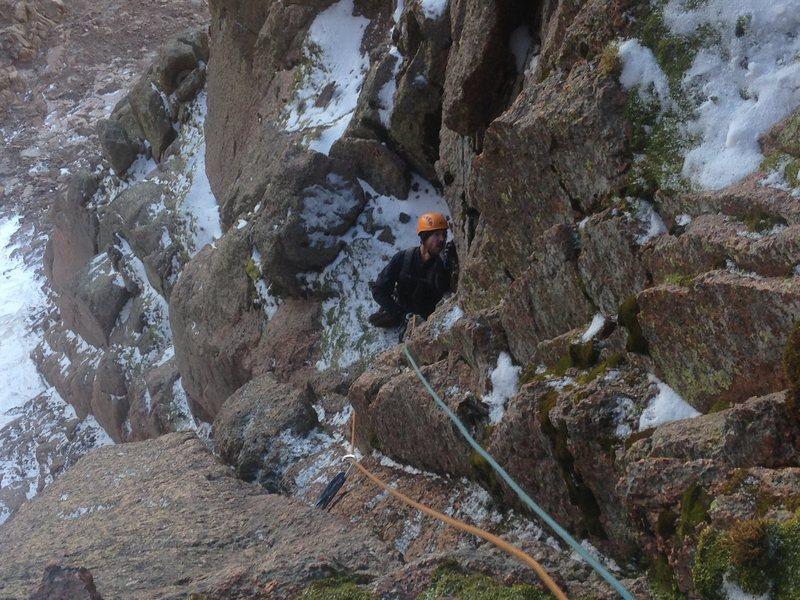 Rock Climbing Photo: Steve T. coming up p1.