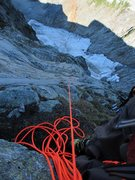 Rock Climbing Photo: looking down P3 from the belay