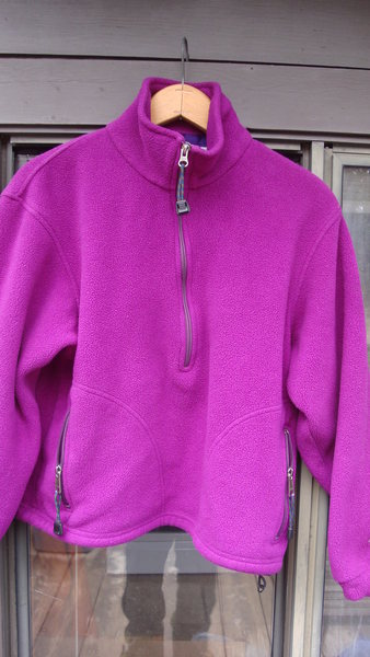 Zippered pullover.