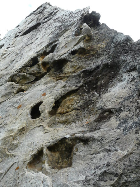 Rock Climbing Photo: Dommage que cette voie soit si courte. Les prises ...