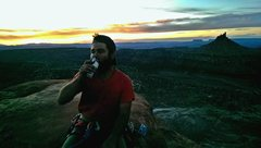 Rock Climbing Photo: On top of the South Six Shooter.