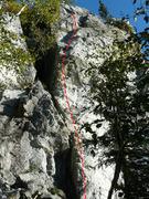 Rock Climbing Photo: Tintin au Tibet 5.9+