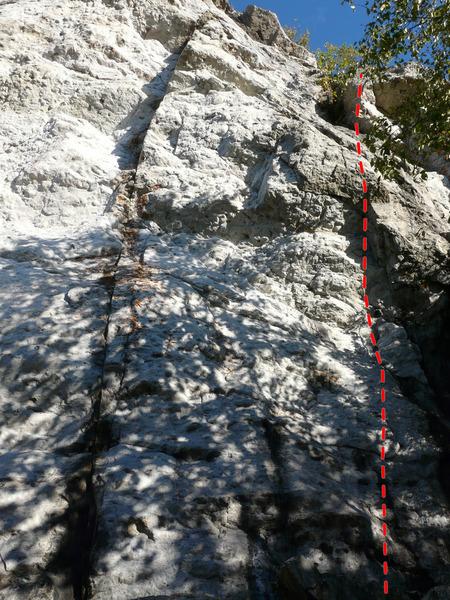 Rock Climbing Photo: Les enquêtes Jobidon 5.10b