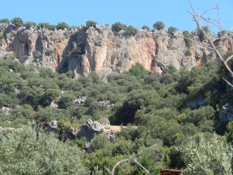 Limestone walls near Climbers Garden