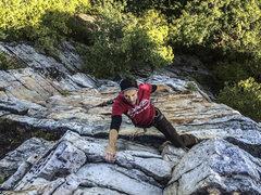 Rock Climbing Photo: teeny face