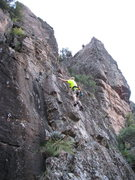 Rock Climbing Photo: Aaron finishing bolting on Concierge Southern Wall...