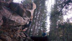 Rock Climbing Photo: Peter Hurtgen starting up Tomahawk Chop.