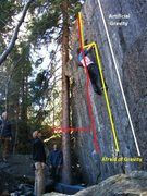 Rock Climbing Photo: The tallest part of the wall.