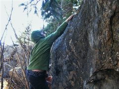 Rock Climbing Photo: Getting the top hold.