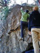 Rock Climbing Photo: Me mid-throw.