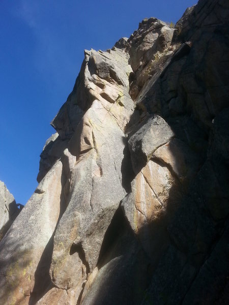 Rock Climbing Photo: October Light dihedral on the NW face of The Fang.