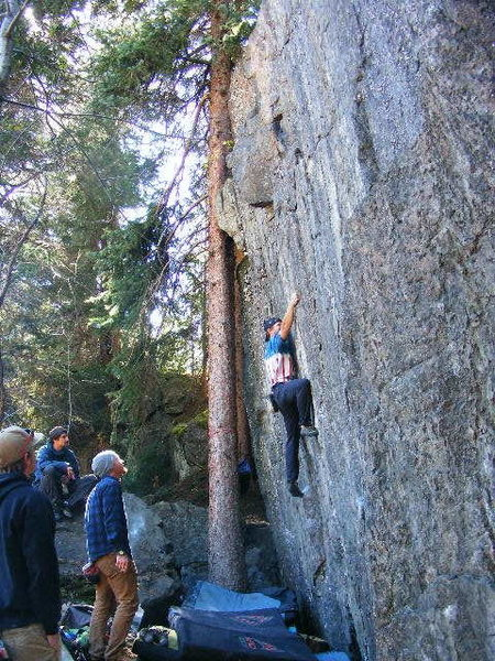 Rock Climbing Photo: Me on the beginning of Weightlessness.