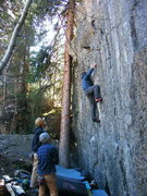 Rock Climbing Photo: Right in the beef.
