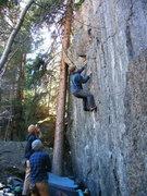 Rock Climbing Photo: Getting close.