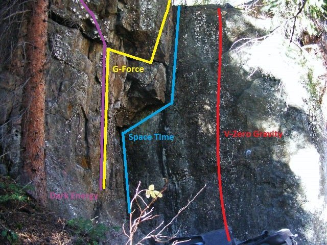 Rock Climbing Photo: The left side of Anti-Gravity.