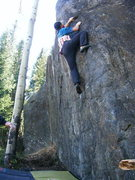 Rock Climbing Photo: Halfway or so.