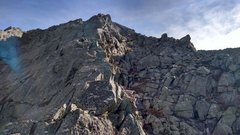 Rock Climbing Photo: The final pitch to the top of Pamola.