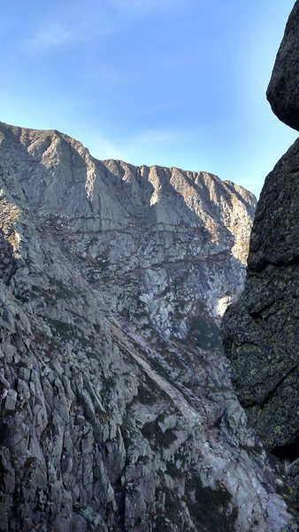 The Flat Iron (center right) and Armadillo (center left) from Pamola IV.