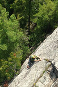 Rock Climbing Photo: Jeremy finishing up the money pitch