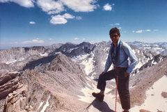 Rock Climbing Photo: Chris Owen on the summit of Mount Haeckel.