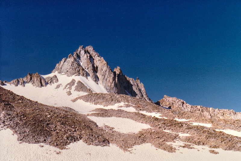 Rock Climbing Photo: Mt. Haeckel seen from the approach from Hungry Pac...