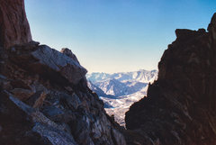 Rock Climbing Photo: View south from the south couloir (Humphreys).