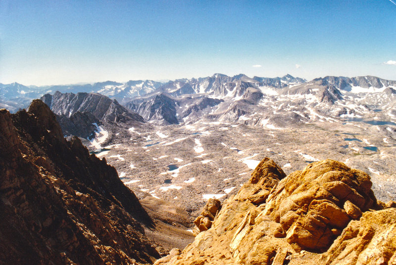 Humphreys Basin seen from the top of the South Couloir.