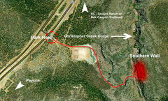 Map to Christopher Creek Climbing Area
